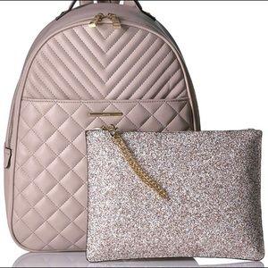 Aldo backpack purse with detachable clutch